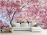Yosot Benutzerdefinierte Fototapete 3D Große Wandbilder Kirschblüten Tapete Schlafzimmer Sofa Tv Hintergrund Wandbild Vliestapete-300Cmx210Cm