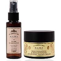 Kama Ayurveda Pure Rose Water 50 ml, Rejuvenating and Brightening Ayurvedic Night Cream 25gm
