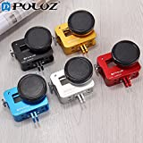 United States, Blue: PULUZ for GoPro Accessories Housing Shell CNC Aluminum Alloy Protective Cage W/Insurance Frame UV Lens for GoPro Hero 6 Hero 5