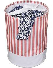 PrettyKrafts Canvas Laundry Bag, Toy Storage, Laundry Storage (45 L) - Pink