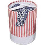 PrettyKrafts Folding Cloth Laundry Hamper with Handles - Dirty Clothes Sorter - Easy Storage (70 LTR) - Collapsible - Brown