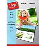 SNAP Inkjet 6x4 (10x15cm) Glossy Photo Paper 260gsm Heavyweight Premium Instant Dry and Water Resistant x 100 Sheets SP-27-10