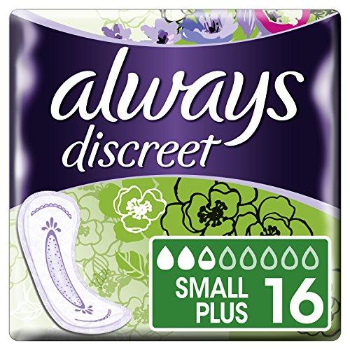 Image of Always Discreet Inkontinenz Einlagen Small Plus bei Blasenschwäche, 2er Pack (2 x 16 Stück)