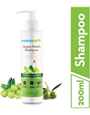 Mamaearth Happy Heads Natural Protein Hair Shampoo 200ml with Biotin, Horse Chestnut, Bhringraj and Amla. Sulfate Free, SLES Free