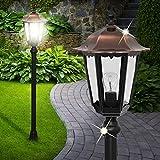 Laterne Stand Leuchte ↥1160mm/ Antik/Kupfer/ Schwarz/Alu/ AUSSEN Wege Lampe Aussenlampe Aussenleuchte Gartenlampe Gartenleuchte Pollerlampe Pollerleuchte Wegelampe Wegeleuchte