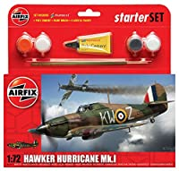 Airfix 1:72 Scale Hawker Hurricane MkI Starter Gift Set