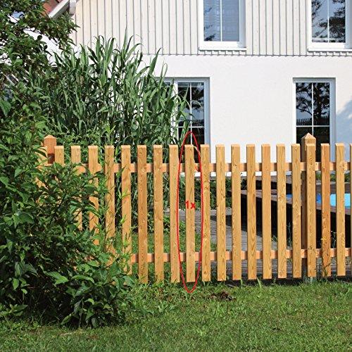 Gartenwelt Riegelsberger Premium Zaunlatte Typ B aus Lärchenholz 21x60 mm, Höhe 100 cm sibirische Lärche Oben 30° abgeschrägt