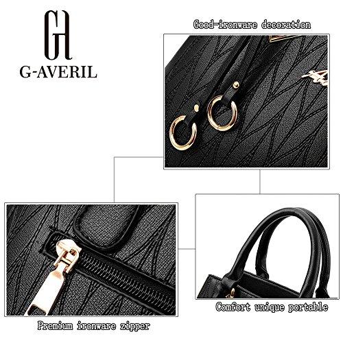 (G-AVERIL)Borsa a Mano da Donna in PU Pelle Designer Top-Handle Borsa Per Le Donne viola