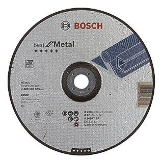Bosch Professional Schruppscheibe gekröpft Best für Metal A 2430 T BF, 230 mm, 22,23 mm, 7 mm, 2608603535