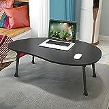 Klapptisch einstellbar Kleiner Schreibtisch/Laptop-Tisch/Kinder Schreibtisch/Single Esstisch / 80 * 50 * 28CM Kann gedreht Werden (Farbe : SCHWARZ)