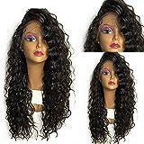 Perruque Fluffy Loose Curly Lace Front en Fibre Synthétique Wigs 24 Inch Résistant à la Chaleur pour les Femmes