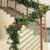 Weihnachtsgirlande 100 LED Lichter ✔ Indoor & Outdoor ✔ 5 Meter Girlandenlänge ✔ 14 cm lange Zweige ✔ warmweißes Licht