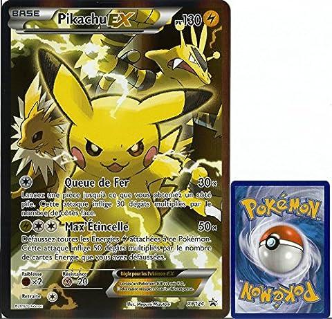 carte Pokémon XY124 Pikachu EX JUMBO 130 PV - FULL ART Promo