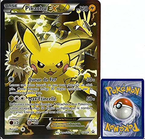 carte Pokémon XY124 Pikachu EX JUMBO 130 PV - FULL