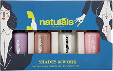 Natural's Nail Enamel Kit, 8ml (8.9042932004e+012) - Pack of 4