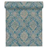 A.S. Création Vliestapete Secret Garden Tapete mit Ornamenten barock 10,05 m x 0,53 m blau braun metallic Made in Germany 336075 33607-5