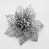 Kicode 12pcs Hollow Flower Open Bauble Party Banquet Christmas Decorations Ornaments