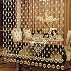 Discount4product Acrylic Crystal Bead Curtain (Transperent, 2m)