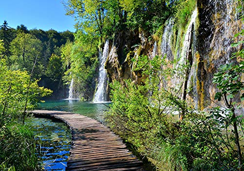 Fototapete Wasserfall Landschaft