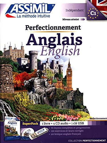 Superpack Perfectionnement Anglais : 1 livre + 4 CD audio + 1 clé USB par Anthony Bulger