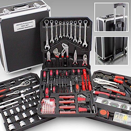 BITUXX-Werkzeugkoffer-399-teilig-Knarrenkasten-Werkzeugkiste-Ringschlssel-Maulschlssel-Gabelschlssel-Ratschen-Schlssel-Kombischlssel-Schraubenschlssel-Stecknsse-Schraubendreher-Bits-Kardangelenk