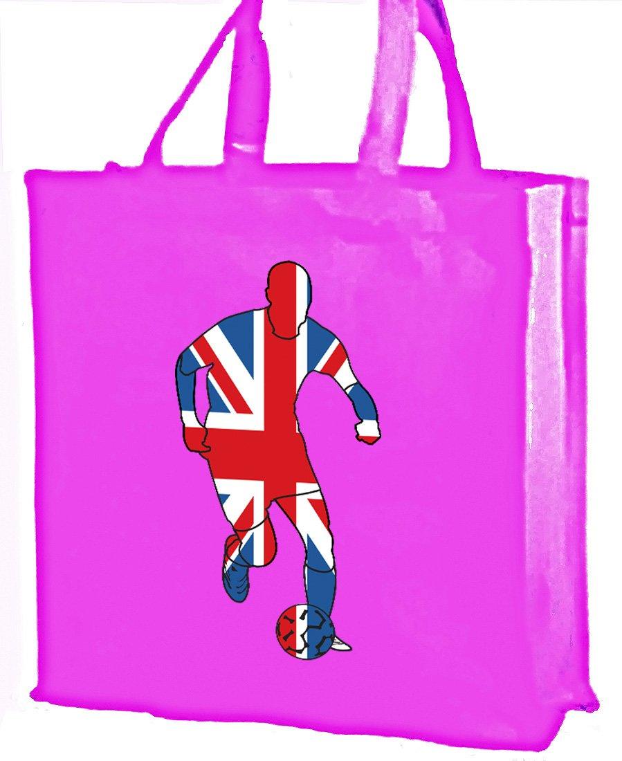 Union Jack calciatore cotone shopping bag, rosa