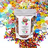 Water Beads Pack Growing Rainbow Mix OrbiesJelly Balls for Kids - Toddler Safe 16,000 Reusable & Non ToxicSoft Gel Orbeez for Spa Refill, Tactile Sensory Toys, Pool, Plants Vases, Party Decoration