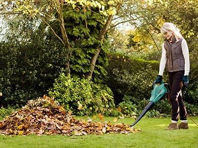 Bosch Home and Garden Laubsauger ALS 25, 45 Liter Fangsack, Schultergurt, Karton (2.500 W, 280-300 km/h Luftstromgeschwindigkeit, Reduzierung Laubmenge 10:1)