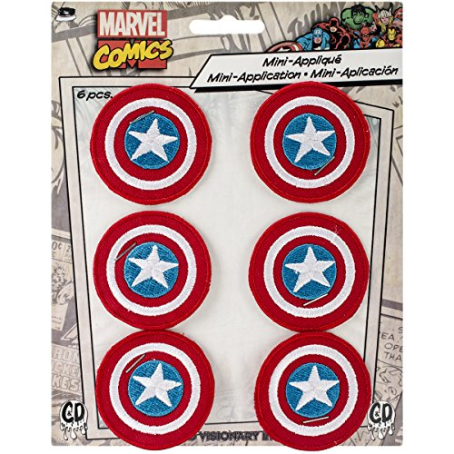 (C&D Visionary Marvel Comics Patch-Captain America 1.625