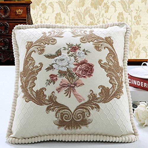 d'oro cuscino europeo floreale ricamo, decorate divano