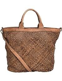 Ladies fourre-tout, sacs à bandoulière Used Look , cabas femme XXL cuir vintage M2118, Italy