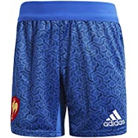 adidas Federación Francesa de Rugby Pantalones Cortos, Hombre, Azul/Blanco (Rojpot), S