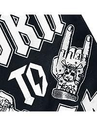 Six Bunnies Rock Hands Body Bebé Negro 56
