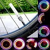 #9: Gagdet Hero's Multi Color Flashing Tyre Valve Wheel Cap Light for Bike / Bicycle Tire - 2pcs