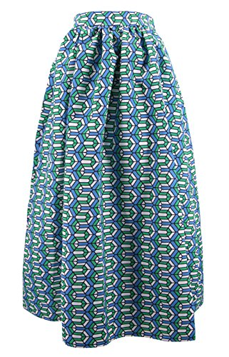 Novias Boutique  Damen A-Linie Rock green geometric