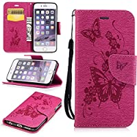 BONROY® Magnetic Flip Cover for iPhone 6 6S (4,7 Inch),Colorful painted pattern Wallet Case with Hand Strap for iPhone 6 6S (4,7 Inch), Premium PU Leather Folio Style Flip with Card Slots and Stand Function Case Cover for iPhone 6 6S (4,7 Inch)