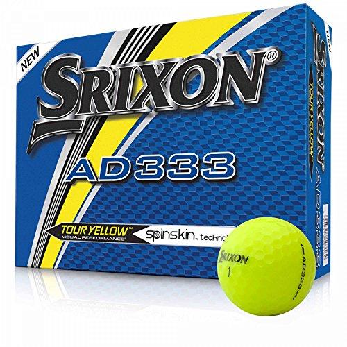 Srixon AD333Tour jaune–Modèle 2018–Jaune–NEUF–Emballage d'origine–1Douzaine de balles de golf