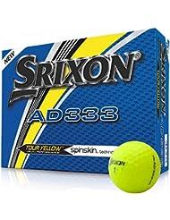 Srixon AD333 Tour Yellow pelotas de golf – Modelo 2018 – Amarillo – Nuevo – Embalaje Original – 1 Docena de