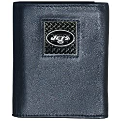 NFL New York Jets Gridiron Leather Tri-Fold Wallet