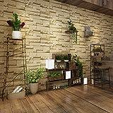 Papier Peint Contemporain en Brique non Tissée Mur de Fond de Décoration de Mur de Chambre à Coucher (Vintage jaune)