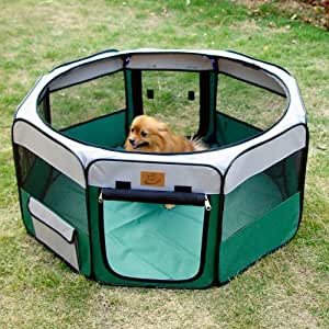 Portable Fabric Puppy and Pet Play Pen - Small