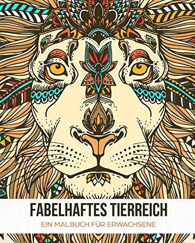 Fabelhaftes Tierreich: Ein Malbuch für Erwachsene zum Entspannen & Stress reduzieren (Schwarzes Papier-malbuch)