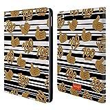 Head Case Designs Offizielle Emoji® 100 Gold Pailletten Druck Brieftasche Handyhülle aus Leder für iPad Air 2 (2014)