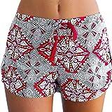 Dasongff Damen Hot Pants Sommer Shorts Hohe Taille Kurze Hosen Böhmen Drucken Bikinihose Strandshorts Sommerhosen für Damen Mädchen (Mehrfarbig, S)
