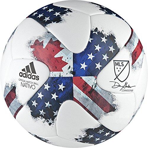 Adidas 2016MLS Offizielle Match Ball [weiß/shoblu/schwarz], Nativo, White|Multi