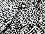 Geometrische Print Viskose & Leinen Blend Kleid Stoff