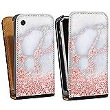 DeinDesign Apple iPhone 3Gs Étui Étui à Rabat Étui magnétique Marbre Rose...