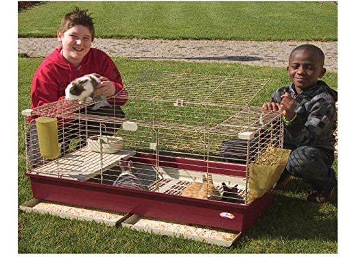 Gabbia per conigli cavie roditori cm 102x53x46 - mod. tommy 102 deluxe