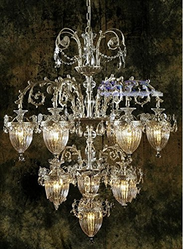 Gowe Glanz Verkauf Kronleuchter Original Vintage Kronleuchter handgefertigt Hohe Qualität flowerlike Aluminium Kristall Kronleuchter Lüster Lampenschirm Farbe: Silber - Hohe Kristall-kronleuchter