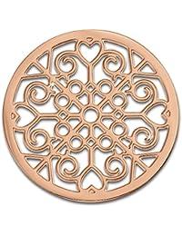 Adamello monedas de acero inoxidable-joyas, moneda de oro rosa modelo - pieza para Adamello Coin versión para mujer - acero inoxidable Stainless Steel ESC523E